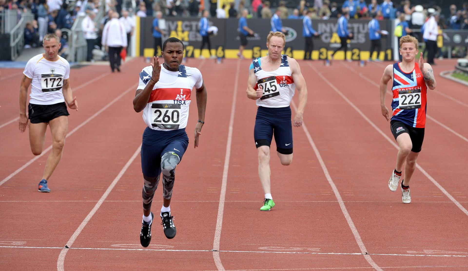 Sprinter mit hoher Schnelligkeit