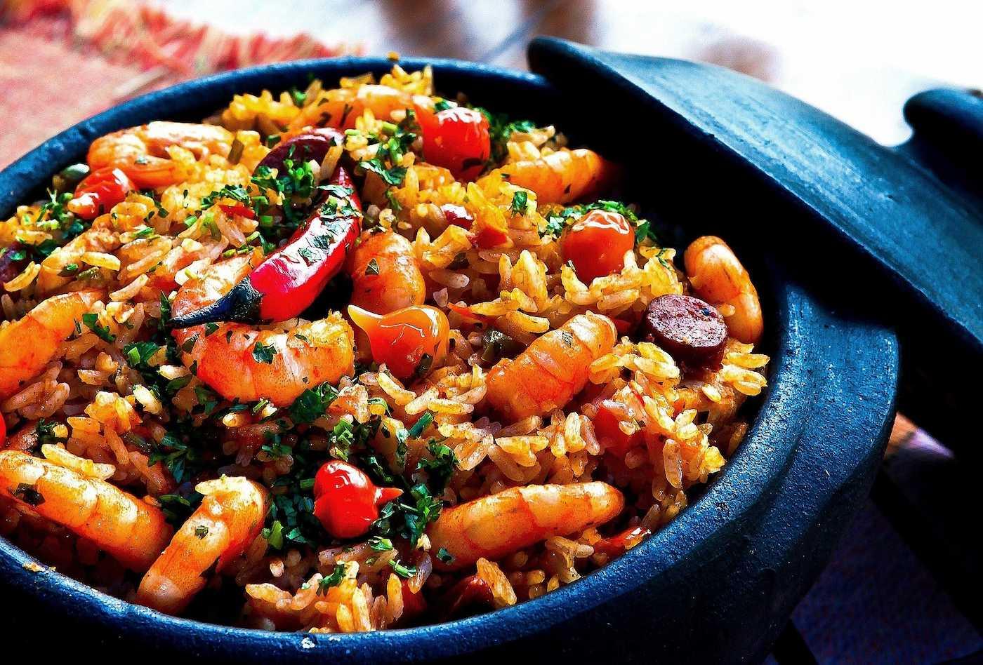 Fitness-Food: Garnelen und Reis